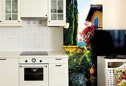 Южный городской пейзаж для ниши на кухне