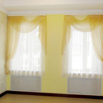 Yellow curtains for office