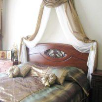 Парчовый палантин и покрывало на кровать ручной работы, фото