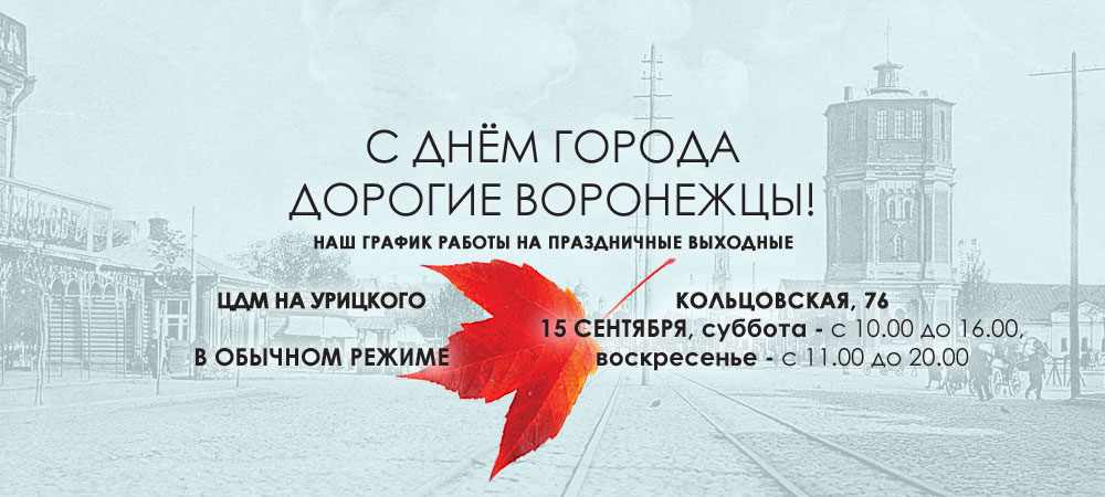 День города в Воронеже, а мы работаем для вас!