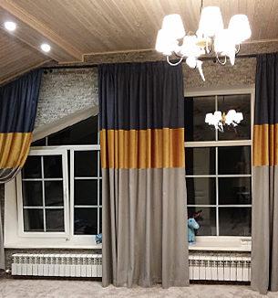 Оформление шторами мансардных окон