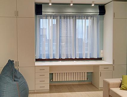 Римская штора в маленькую гостиную